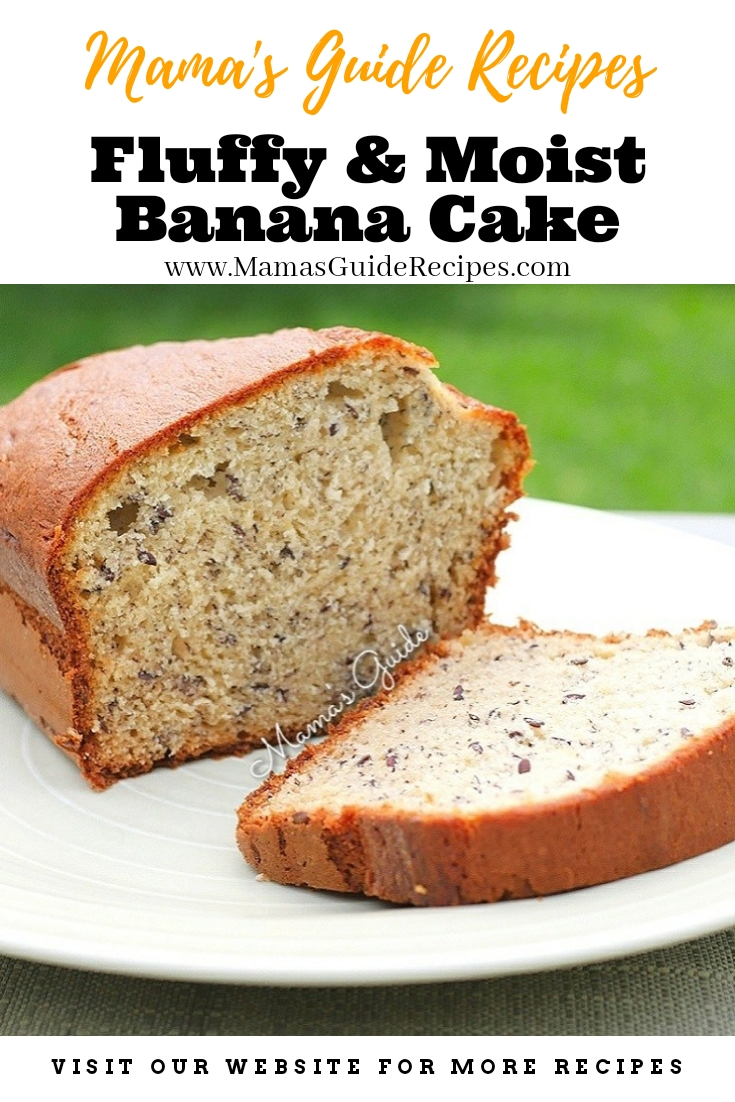 Fluffy and Moist Banana Cake