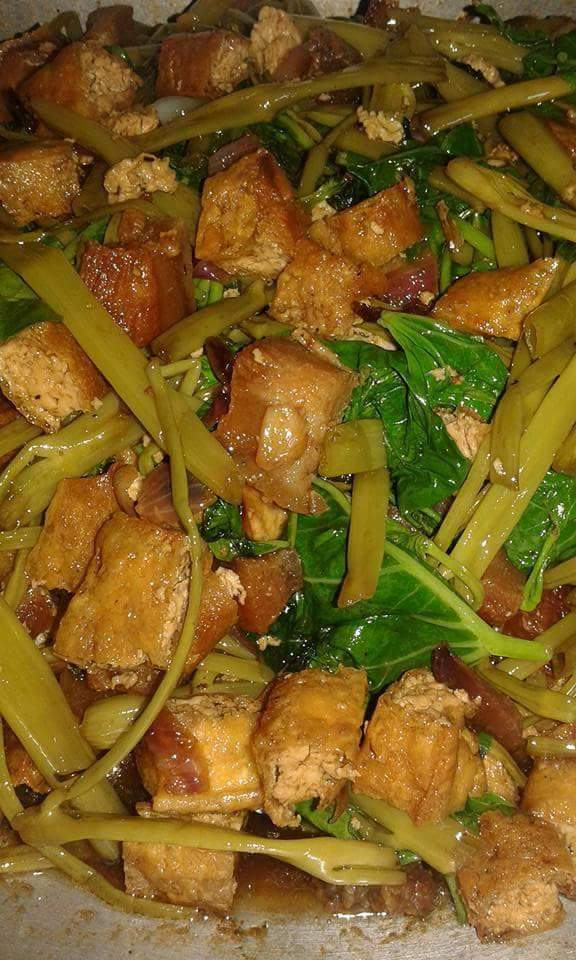 Kangkong With Tofu