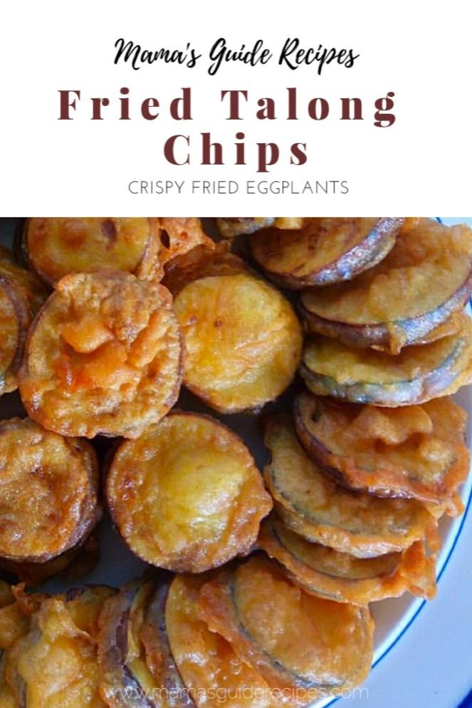 FRIED TALONG CHIPS, crispy fried eggplants, aubergine recipe, eggplant recipe, fried talong recipe,