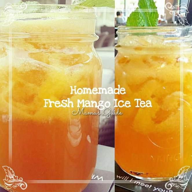 Homemade Fresh Mango Iced Tea