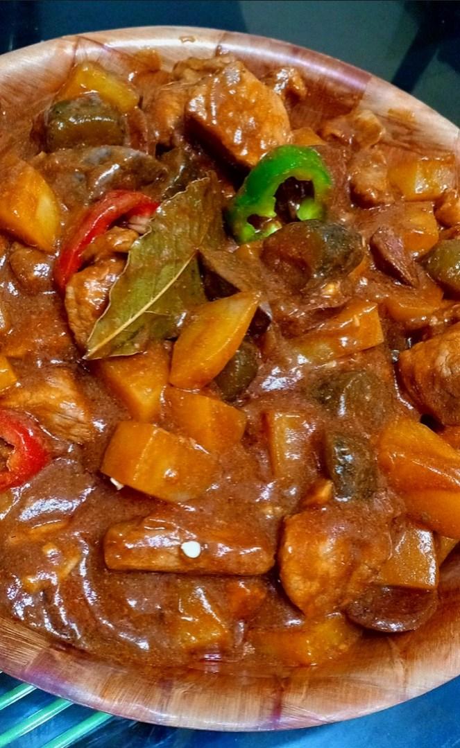 Pork De Pickles or Waknatoy (Menudo ng Marikina)