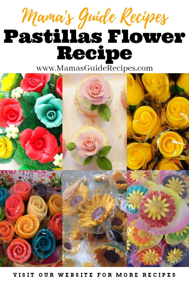 Pastillas Flower Recipe