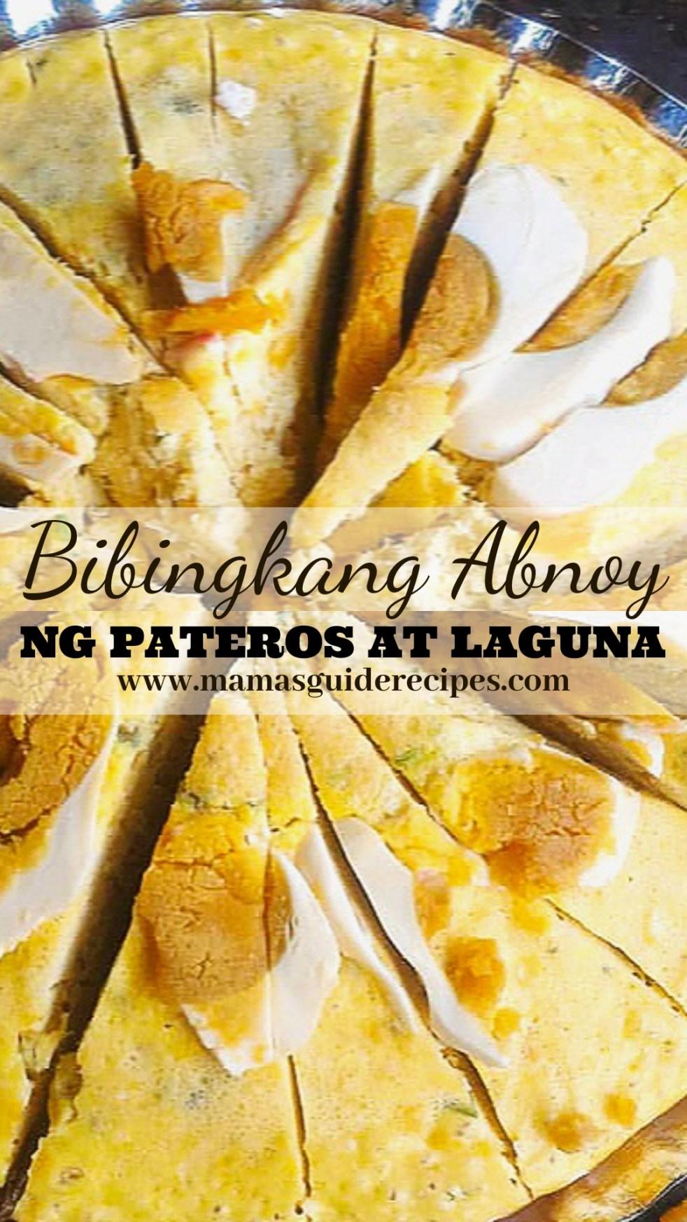 BIBINGKANG ABNOY RECIPE