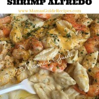 Cheesy Garlic Shrimp Alfredo