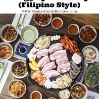 Samgyupsal Recipe (Filipino Style)