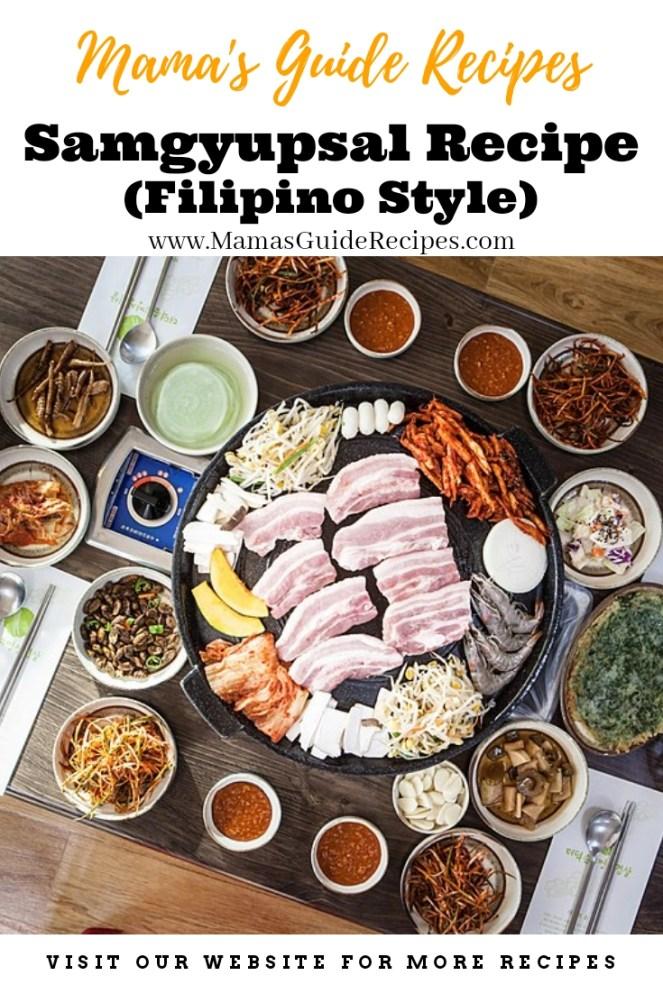 Samgyupsal Recipe (Filipino Style), Samgyeopsal