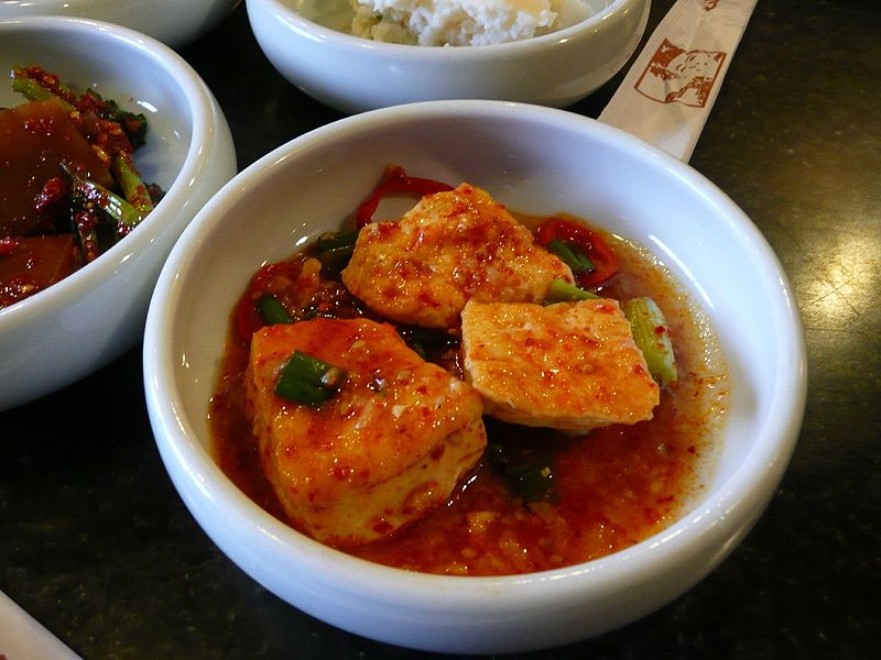 Korean Spicy Braised Tofu (Dubu-Jorim)