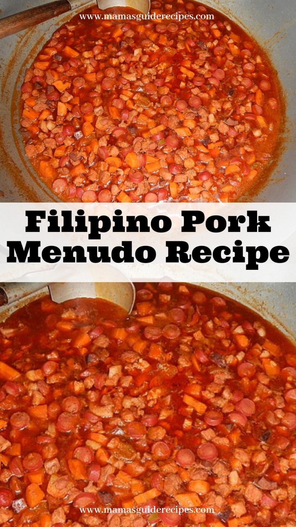 Filipino Ground Pork Menudo Recipe Mama S Guide Recipes