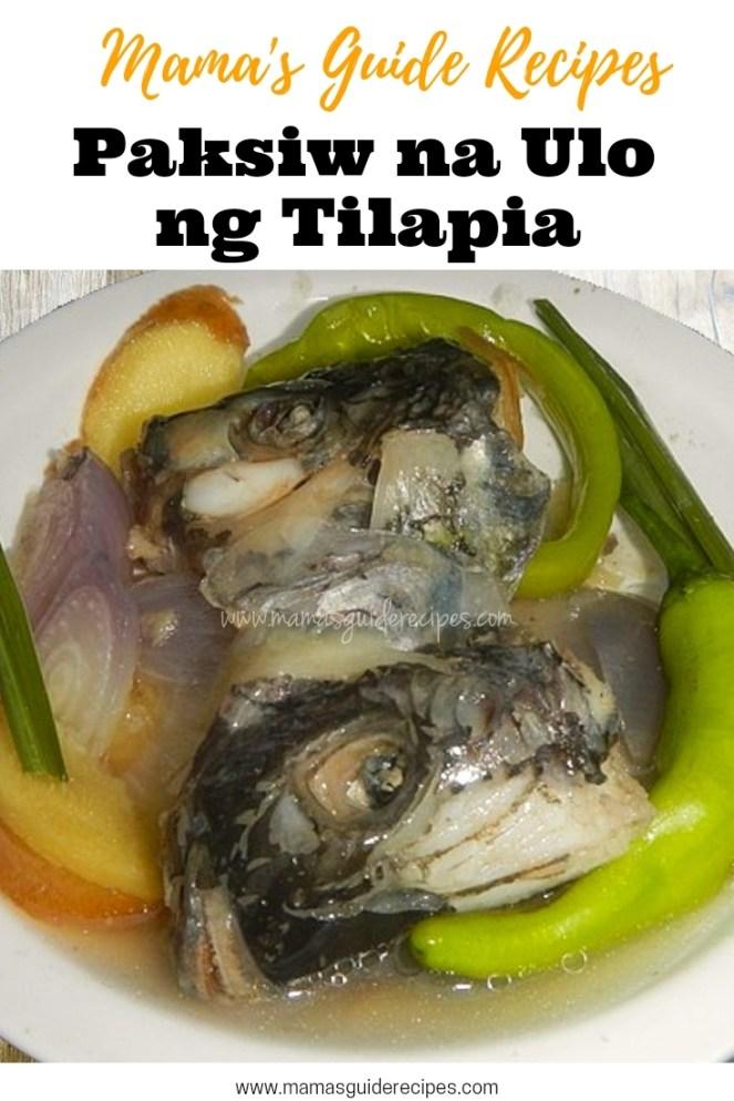 Paksiw na Ulo ng Tilapia