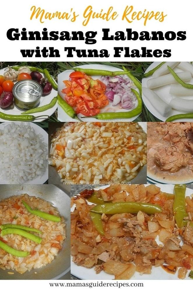 Ginisang Labanos with Tuna Flakes