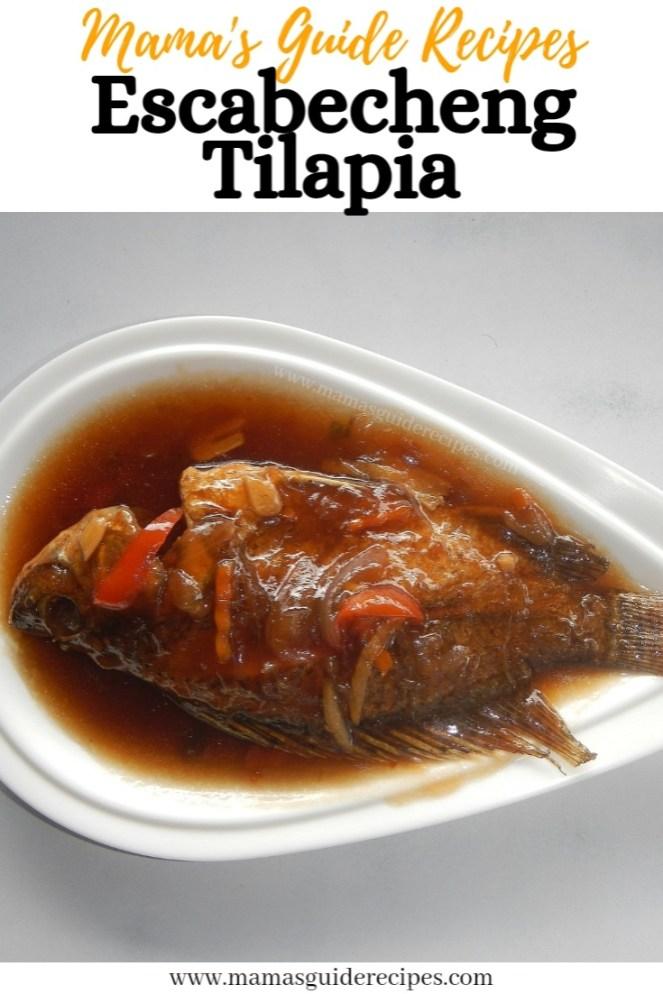 Escabecheng Tilapia Recipe