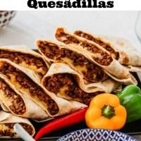 Cheesy Beef Quesadillas Recipe
