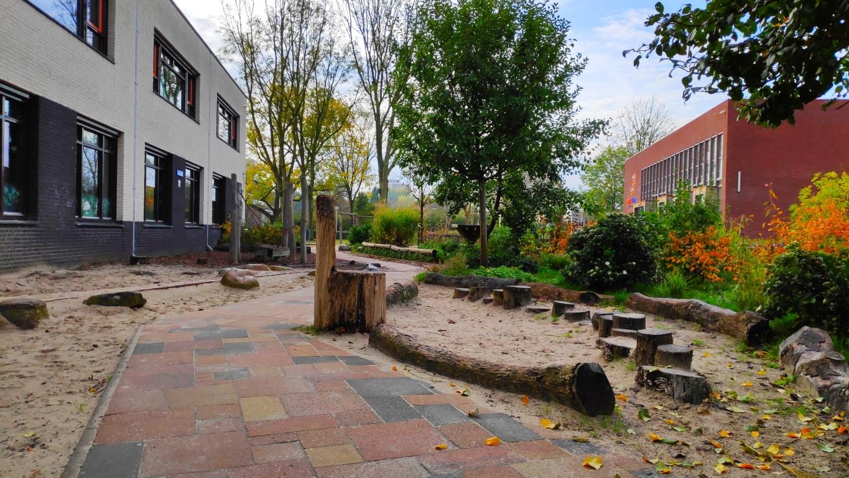 groene schoolpleinen in Zoetermeer: Koningin Wilhelminaschool