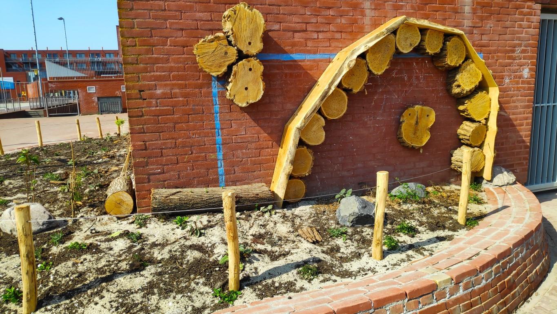 houten schoolplein basisschool de Oostwijzer Zoetermeer
