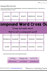 Compound Word Cross Out