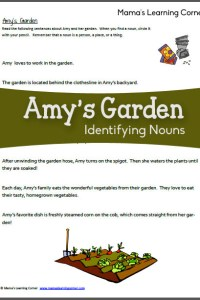 Amy's Garden – Identifying Nouns