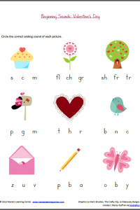 Beginning Sounds: Valentine's Edition