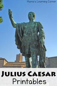 Free Printables for Julius Caesar Unit Study