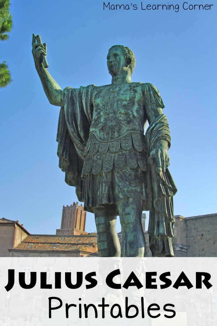 Julius Caesar Printables and Worksheets for 1st-3rd Graders