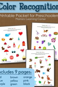 Color Recognition Printable Packet