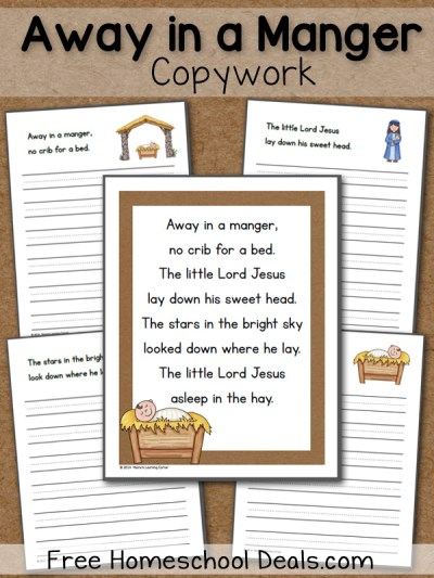 Away in a Manger Copywork