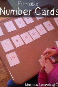 Printable Number Cards