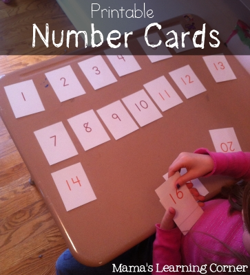 Printable Number Cards (0 through 100)