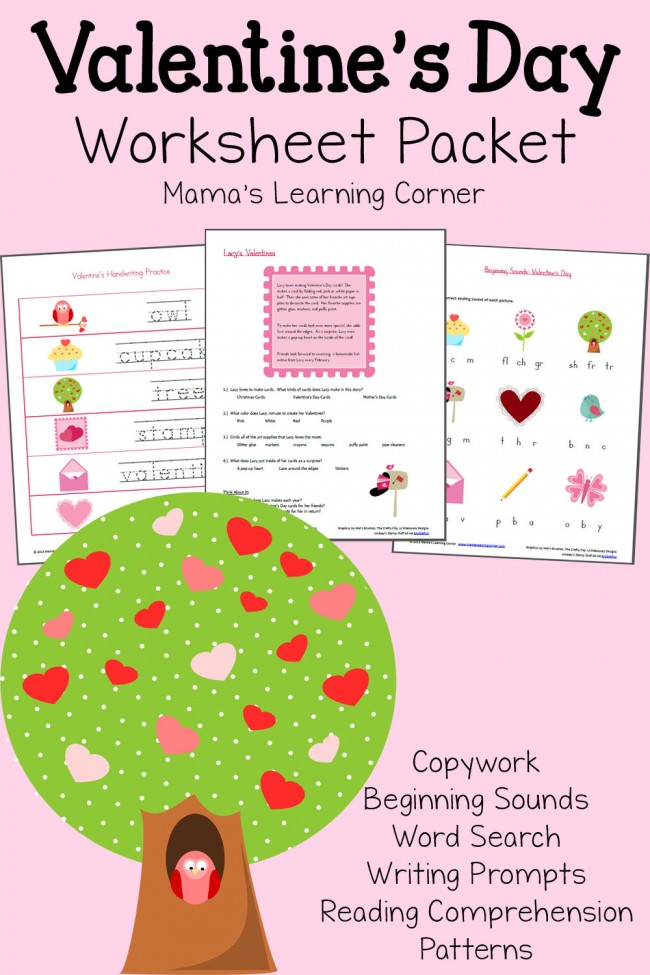 Valentines Day Worksheet Packet