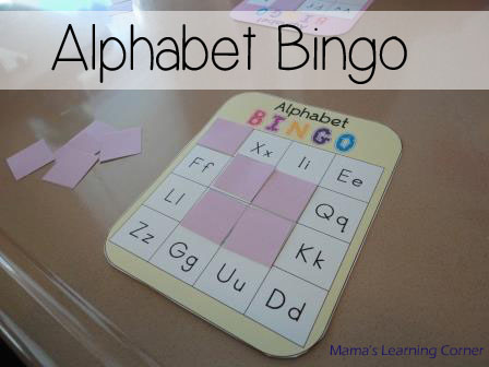 Alphabet Bingo from Mama's Learning Corner