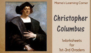 Christopher Columbus Worksheet Packet for 1st-3rd Graders