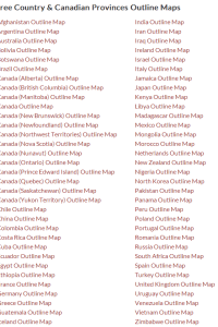 FREE Country Outline Map Notebooking Pages!