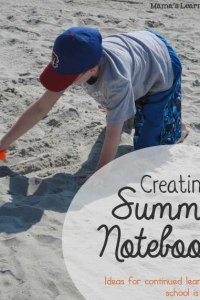 Creating a Summer Notebook
