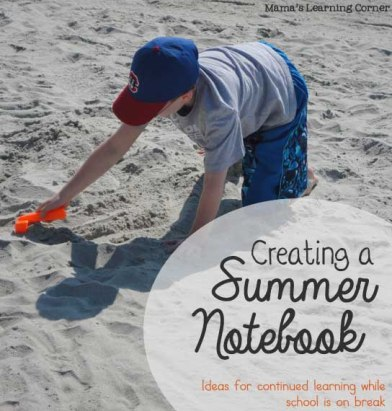 Creating a Summer Notebook for Kids