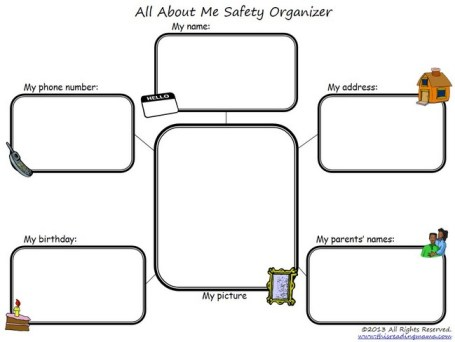 All About Me Safety Organizer