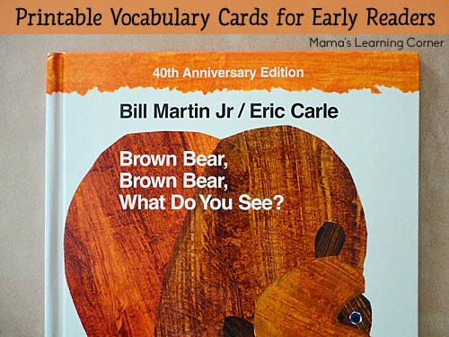 Brown Bear, Brown Bear, What Do You See? Reading Cards