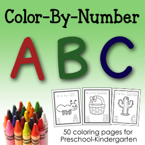 Color By Number ABCs - 50+ color-by-number pages, 1 upper and lowercase for each letter of the alphabet!