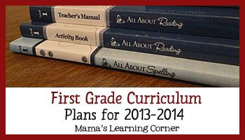 First Grade Curriculum Plans 2013-2014