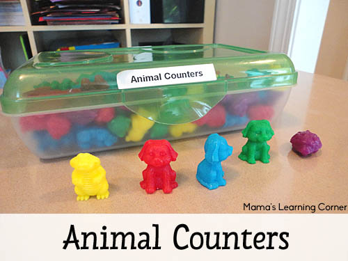 Animal Counters - one of Mama's must have manipulatives for young learners