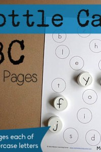 Bottle Cap ABC Matching Pages