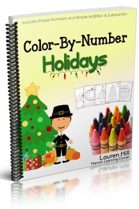 Color By Number Holidays – 55 Thanksgiving and Christmas Coloring Pages!