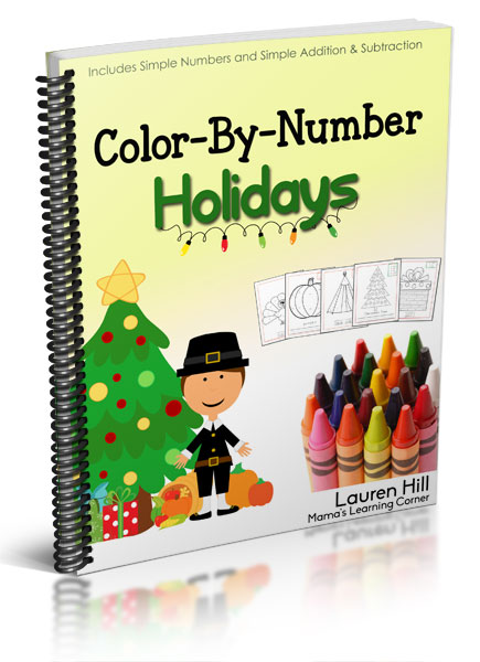 Color By Number Holidays - 55 pages of Thanksgiving and Christmas-themed Coloring Fun!