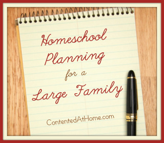 Homeschool Planning for a Large Family