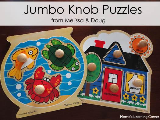 Jumbo Knob Puzzles from Melissa and Doug