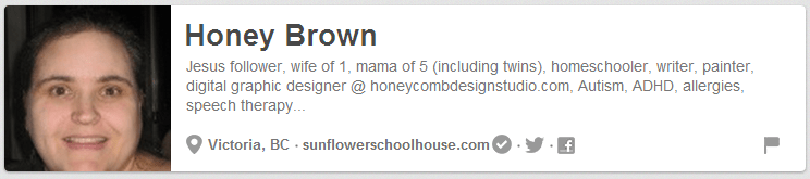 Honey from Sunflower Schoolhouse on Pinterest