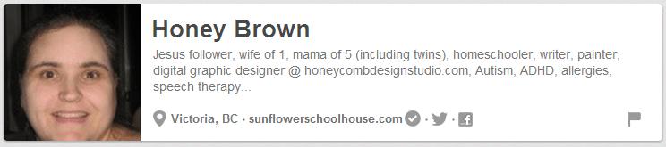 Honey from Sunflower Schoolhouse on Pinterest