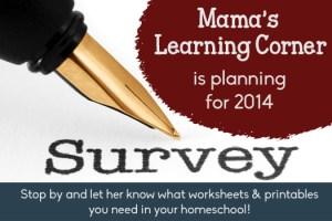 2013 Reader Survey at Mama's Learning Corner