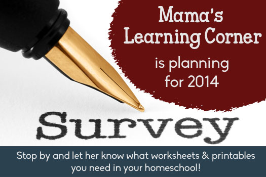 2013 Reader Survey at Mama's Learning Corner