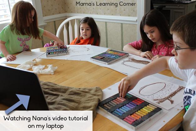 Watching Chalk Pastel tutorial
