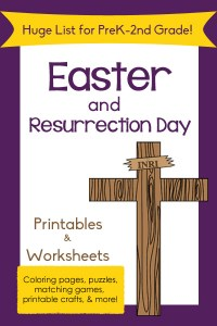 Huge List of Easter Printables for Preschool to 2nd Grade!