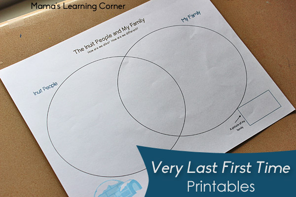 Free Literature-based Printables: Very Last First Time